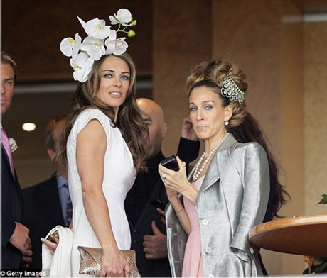 SJP and Liz Hurley in Melbourne Australia during Melbourne Cup week