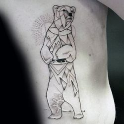 Geometric Polar Bear Tattoo Design
