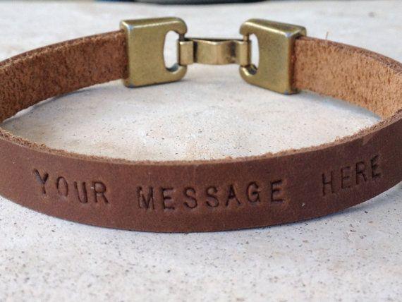FREE SHIPPING-Mens Leather Bracelet,Men Engraved Bracelet,Men Personalized Braceelet,Engraved Leather Bracelet,Hand Engraved Bracelets on Etsy, $26.00