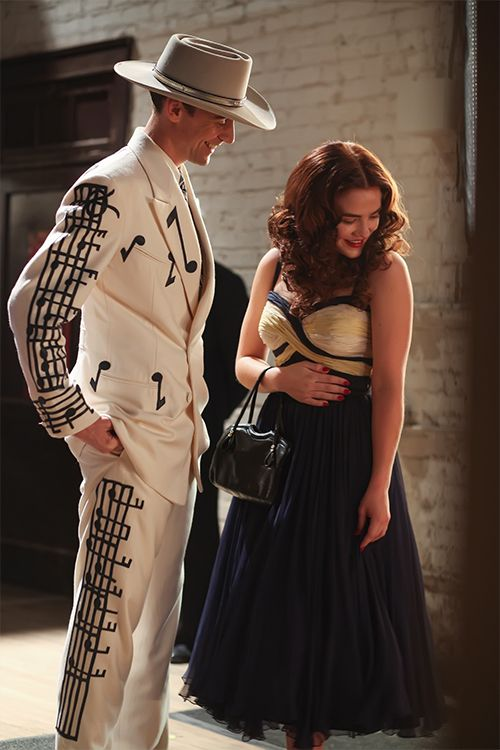 Tom Hiddleston as Hank Williams and Maddie Hasson is Billie Jean in I Saw The Light. Full size image: http://ww1.sinaimg.cn/large/6e14d388gw1ewv8g1kgddj218g1uo4om.jpg Source: http://theboot.com/i-saw-the-light-movie-photos/