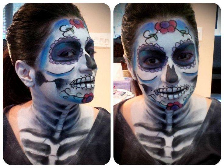 Check it out! Sugar Skull makeup.