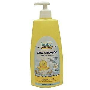 Babyline Шампунь для младенцев с помпой 500 мл  — 310р. --------  Детский шампунь BabyLine специально разработан для ежедневного мытья волос. Мягкое очищение и уход с ромашкой и пантенолом. Без слез, без мыла и красителей. Мягко и нежно очищает волосы и чувствительную кожу головы.  Состав: вода, лаурилглюкозид, кокамидопропилбетаин, лаурилсаркозинат натрия, натрия кокоил яблочных аминокислот, лимонная кислота, феноксиэтанол, отдушка, метилпарабен, пантенол, пропилпарабен, ромашка,бисаболол…