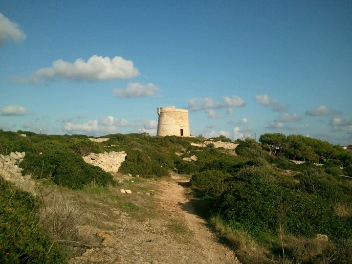 On the coastline walk....Punta Prima Menorca. We used to find fossils here.