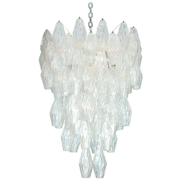 Rare Poliedri Hanging Fixture by Venini. c.1957