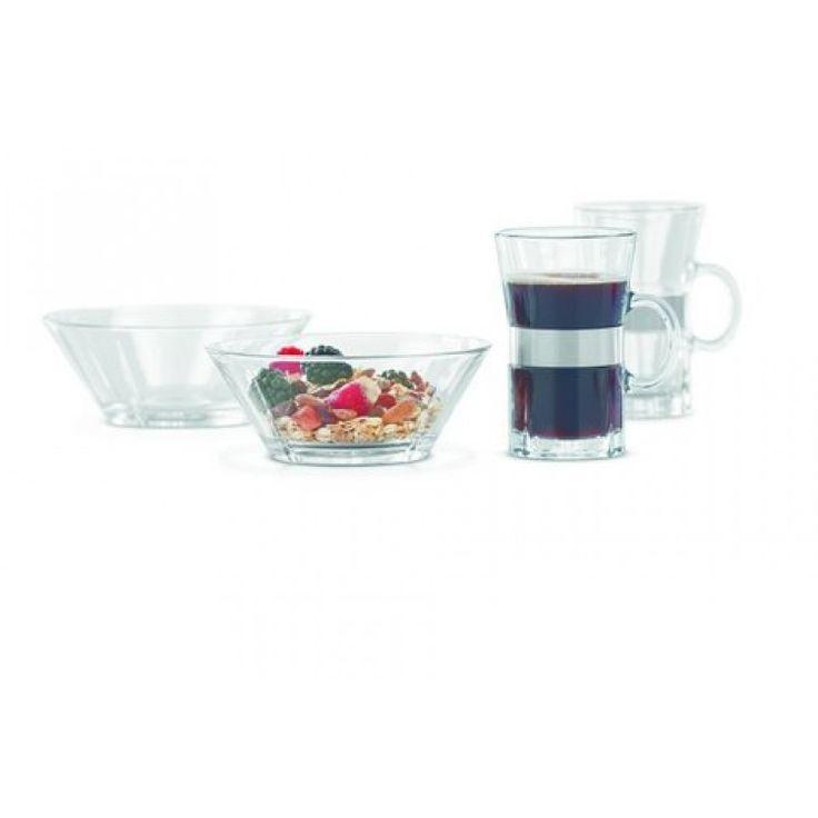 Geniet samen van een heerlijk ontbijtje met deze stijlvolle ontbijtset van Rosendahl. De Grand Cru set bestaat uit twee glazen kommen en twee bekers voor warme dranken. http://www.klasse.eu/Rosendahl-ontbijtset-Grand-Cru