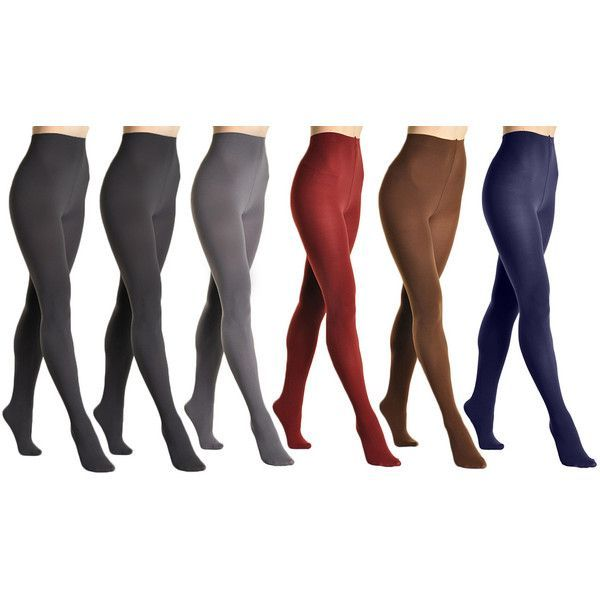 Women's Angelina Women's Brushed Interior Thermal Tights A 6 Pack ($25) ❤ liked on Polyvore featuring intimates, hosiery, socks, socks & hosiery, multi color socks, colorful socks, thermal socks, multicolor socks and cold weather socks #Socks&Hosiery