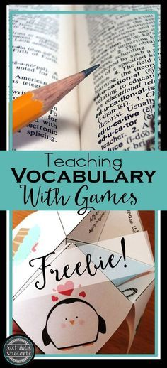 Fun ways to teach vocabulary. Ideas and activities that will engage your students in learning new vocabulary in any class -- including eleven games using a fortune teller or cootie catcher. Fun and easy to implement - dyi that can be differentiated.