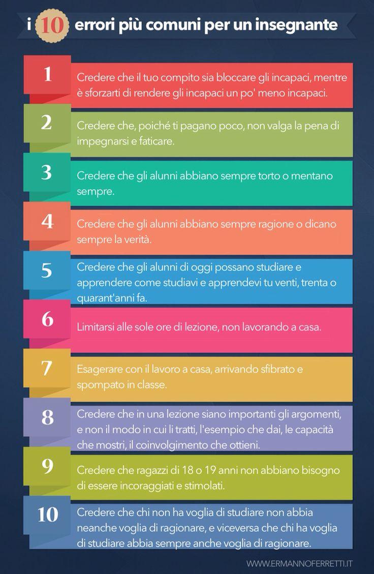 I 10 errori più comuni in cui può incappare un insegnante