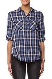 carolina cotton shirt, FOLK BLUES CHECK