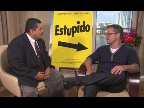 Jimmy Kimmel Crashes Matt Damon's Elysium Press Junket