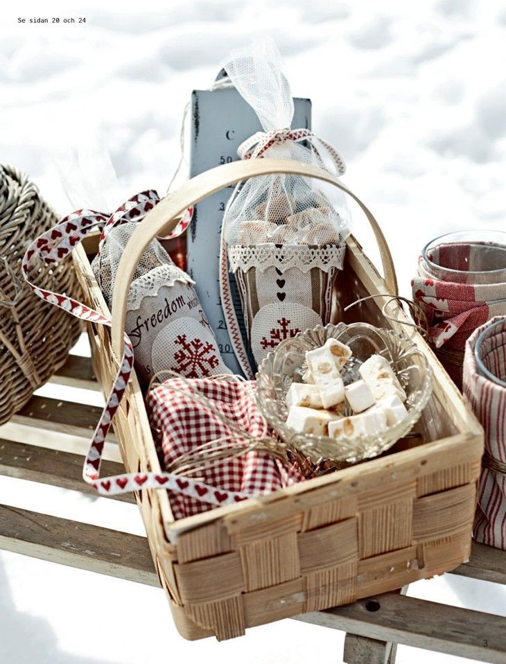 .Winter Basket filled with goodies