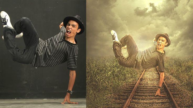 Photoshop CC Manipulation Tutorials | Photo Effects Jumping boy