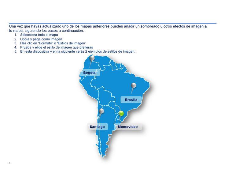 mapa interactivo de Sudamérica en PowerPoint