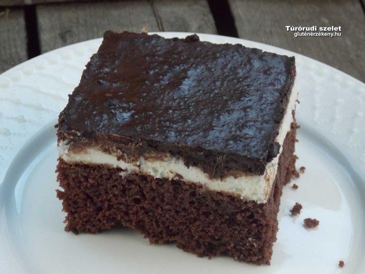 Túrórudi szelet - gyors gluténmentes sütemény Kakaós túrós csokis gluténmentes sütemény barna rizsliszttel – Túrórudi szelet