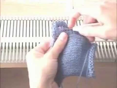 Machine Knitted Button Holes by KnittersEdge - YouTube
