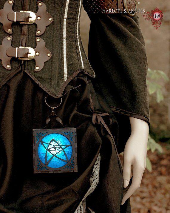Steampunk Lamp, Geek Gift, Steampunk Accessories, Lovecraft Cthulhu Wood Lantern Box, alternative Gi