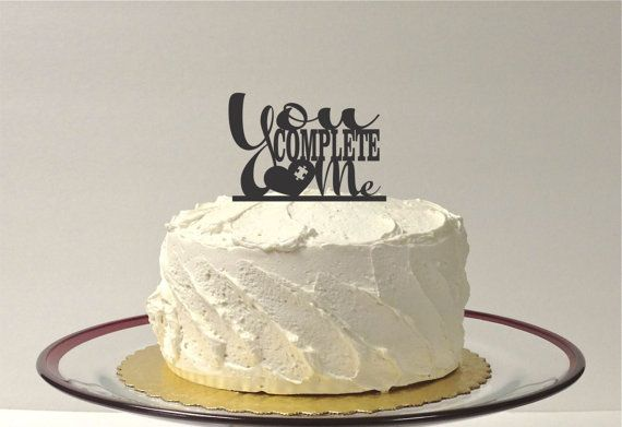 YOU COMPLETE ME Wedding Cake Topper Cake Decoration Acrylic Wedding Topper Classic Wedding Cake Topper Wedding Decoration Keepsake on Etsy, £12.19