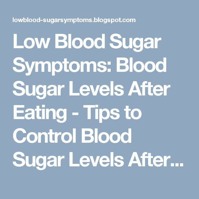 how to know if blood sugar is high or low