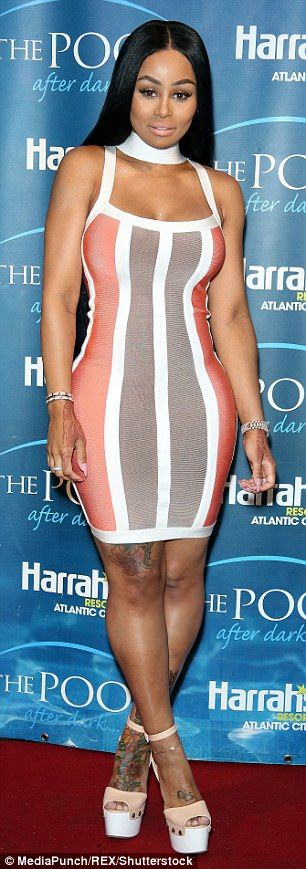 Blac Chyna Shows Off Her Curves In Bandage Dress