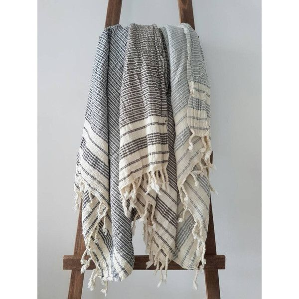 Crinkled Cotton Fouta Towel Natural Bath Sheet Non-Iron Textile Spa... ($26) ❤ liked on Polyvore featuring home, bed & bath, bath, bath towels, bathroom, home & living, navy, lightweight bath towels, cotton bath sheets and navy bath towels