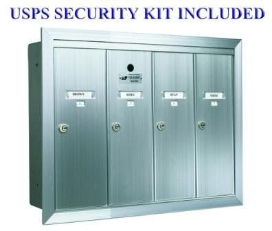 Auth-Florence 12504HA 4 Compartment Mailboxes Recessed - Aluminum by Auth-Florence. $138.00. Budget Mailboxes has a 1-day sale on the 4 Compartment Fully Recessed Vertical Replacement Mailboxes- ANodized Aluminum by Auth-Florence. This item is sometimes also known as: 12504HA - B0081A1T60 - 763128125047- WL-12504HABM