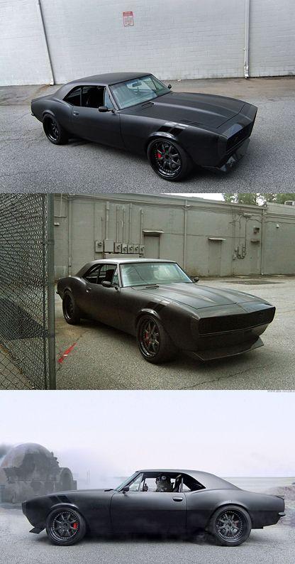 Black on black Camaro. Satin black is THE BEST CAR COLOR EVER.