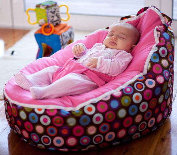 Baby bean bag. Genius! Great for reflux, no flat heads and it looks super comfy and cozy. Cute idea!!!!