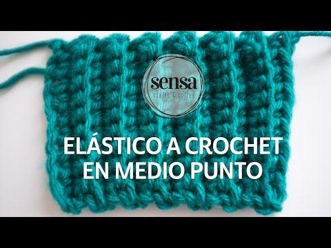 como tejer el punto elastico tejido a crochet - YouTube
