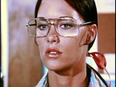 "Joanna Cameron as Andrea Thomas in the seventies superhero television show, ""The Secrets of Isis"".  Just like Superman, the glasses change everything..."