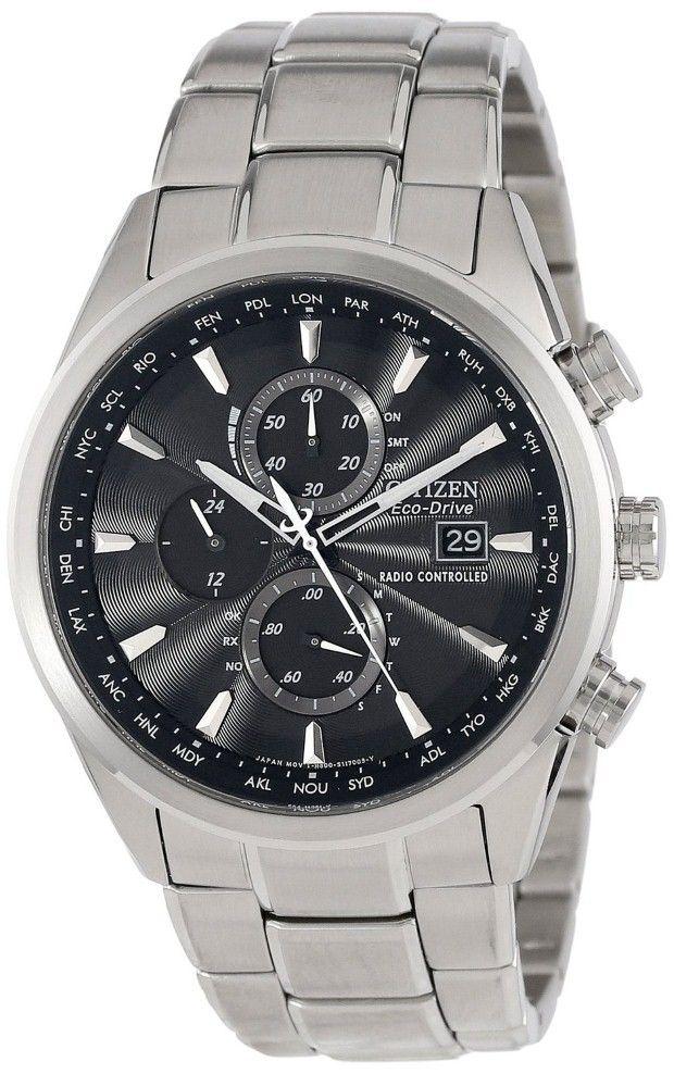 Citizen men watches : Citizen Men's AT8010-58E Eco-Drive World Chronograph A-T Watch
