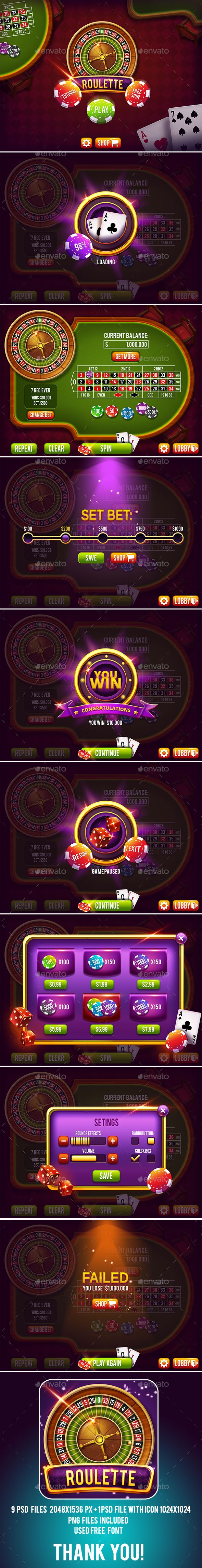 Casino Roulette Game Pack with GUI  PSD Template • Download ➝ https://graphicriver.net/item/casino-roulette-game-pack-with-gui/17049686?ref=pxcr