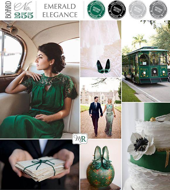 Emerald Green Board. Magnolia Rouge