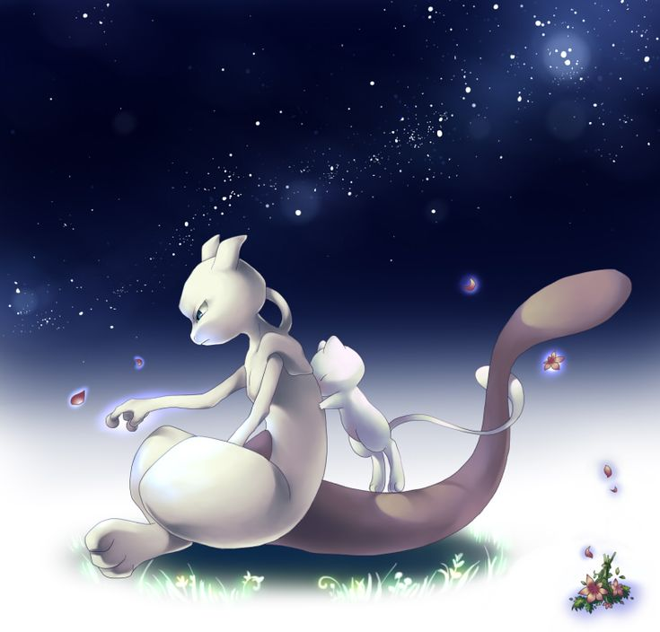 I dunno... found a bunch of pins of Mewtwo cause Mewtwo is a seriously messed-up angstmuffin and I love him for it.