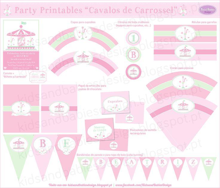 Kids&Babies: Party Printables :: Cavalos de Carrossel