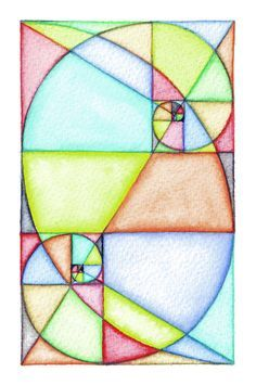Fibonacci_Spiral_Art ~ Instead thick black permanent marker lines and psychedelic paint?
