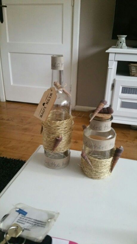Eigen creatie. Altijd leuk als je wijnflessen kan hergebruiken. Huis staat binnen 1 maand vol