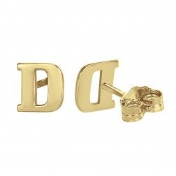 Alison and Ivy Simple Initial Earrings (6mm). $123.25