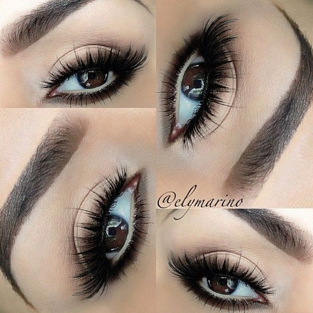 """Love this. Lashes are #houseoflashes """"Noir fairy"""" in brown."""