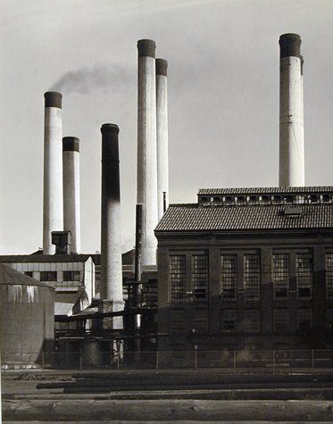 charles sheeler paintings   Charles Sheeler, Untitled (Electric Power Plant, New Bedford ...