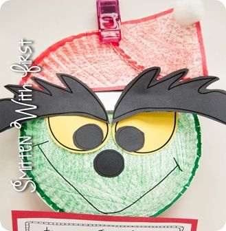 Grinch made out of paper plates next year how the for Christmas crafts made out of paper plates