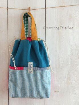 キンチャク*トート drawstring tote bag