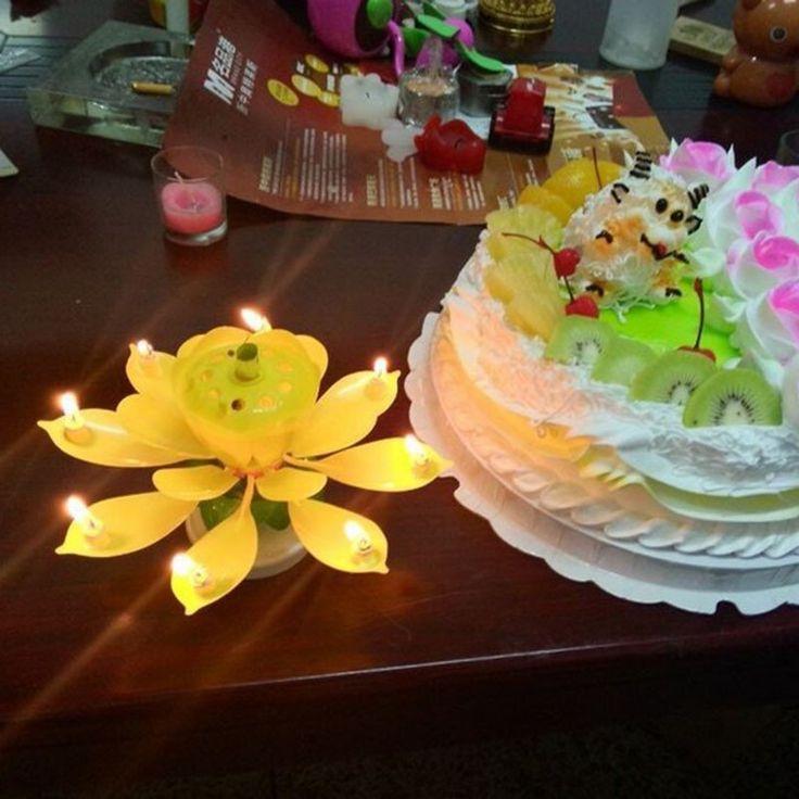 Blooming Lotus Birthday Candles