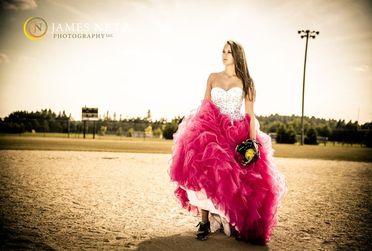 High School Senior Portraits (c) James Netz Photography - softball & prom dress senior portraits