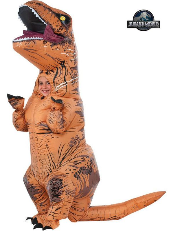 Check out Boy's Jurassic Park 2 Deluxe Inflatable T-Rex Costume - Treat Bag Accessories from Costume Super Center