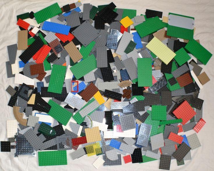 6+ lbs Lego Random Pieces, Base, Plates of Used Lego Parts, Bulk Legos Lot D3