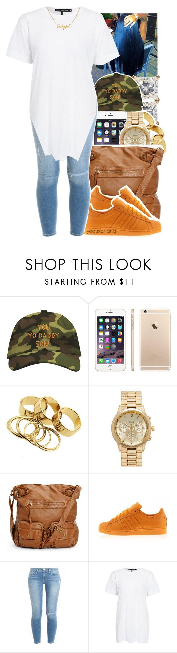 """4/1/2017"" by yeauxbriana ❤ liked on Polyvore featuring Forever New, adidas and Frame"