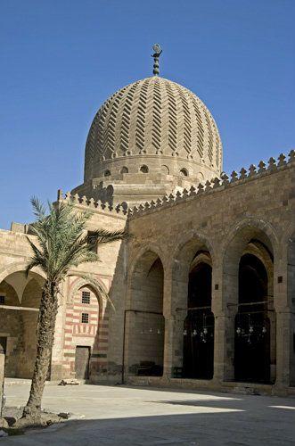 Egypt, Cairo, Northern cemetery, Mamluk khanqah-mausoleum of Farag ibn Barquq, 1411
