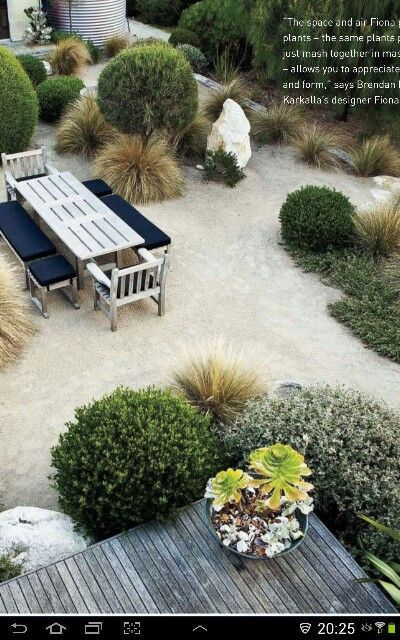 Add trailing Rosemary, juniper or westringa glauca to corners of the property…