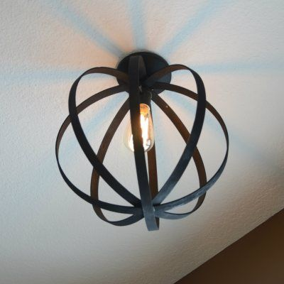 Flushmount Orb Light Fixture | The Vintage Estate