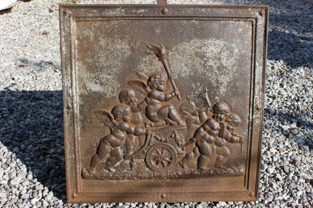 Piastra camino con Angeli in rilievo Pezzo raro - arredamento casa - ufficio Padova
